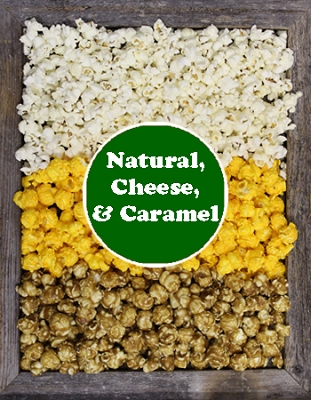 Natural, Cheese, & Caramel - Simply By The Box (3 Gallon)