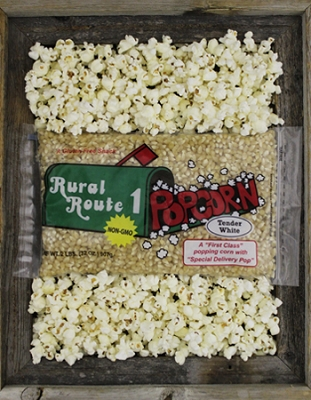 3 - 2lb.  White Popping Corn Bags